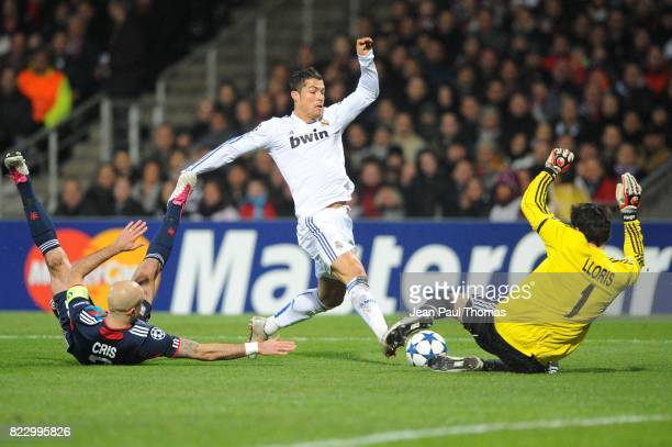 CRIS / Hugo LLORIS / Cristiano RONALDO Lyon / Real Madrid 1/8 Finale aller Champions League