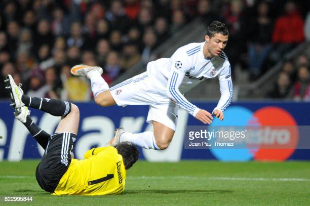 Hugo LLORIS / Cristiano RONALDO Lyon / Real Madrid 1/8 Finale aller Champions League
