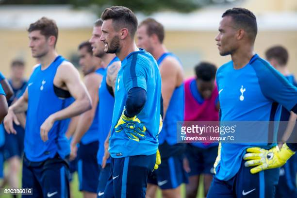 Hugo Lloris during the Tottenham Hotspur open training session at the ESPN Wide World of Sports on July 21 2017 in Orlando Florida