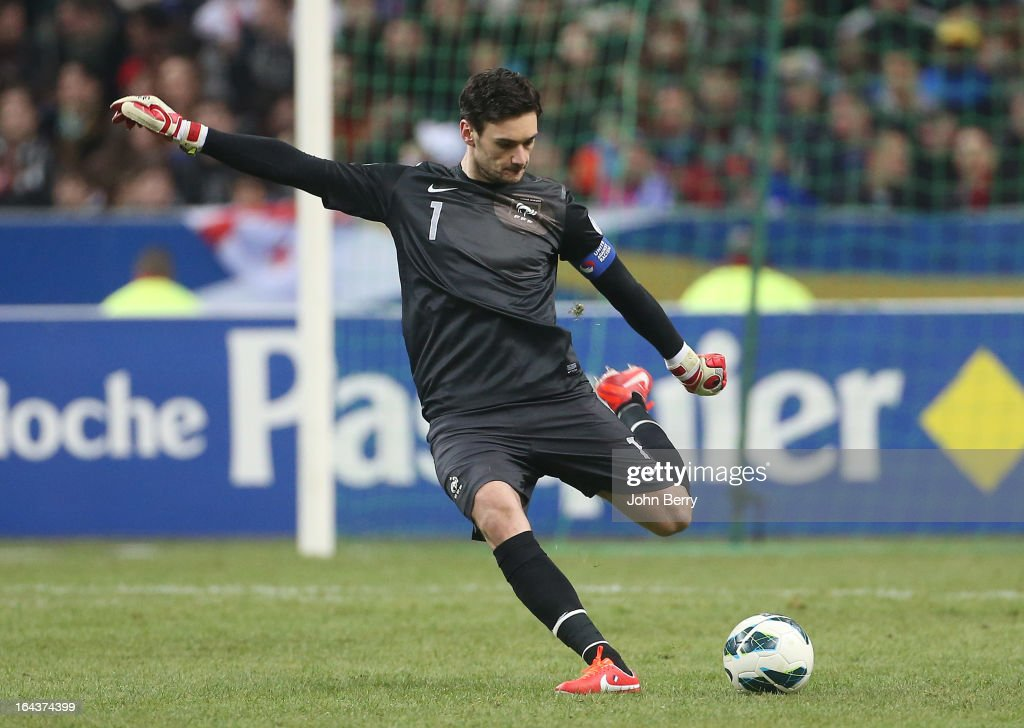 Hugo Lloris, goalkeeper of France in action during the FIFA 2014 World Cup qualifier match between France and Georgia at the Stade de France on March 22, 2013 in Saint-Denis near Paris, France.