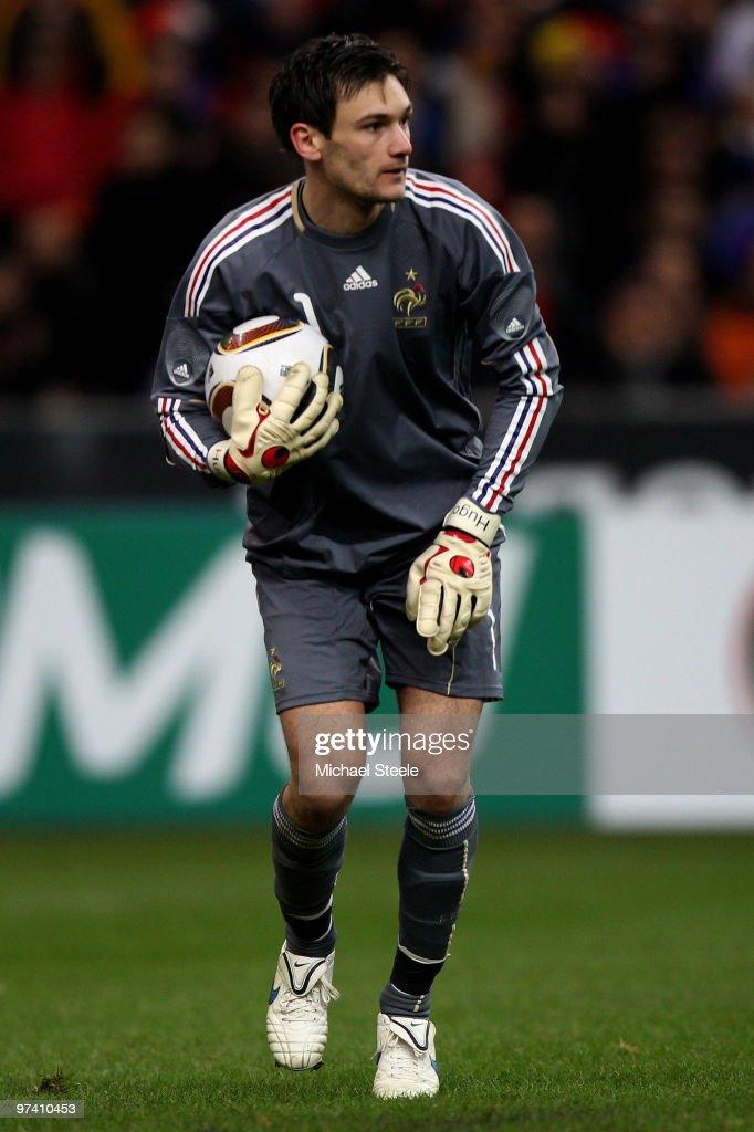 Hugo Lloris of France during the France v Spain International Friendly match at the Stade de France on March 3, 2010 in Paris, France.
