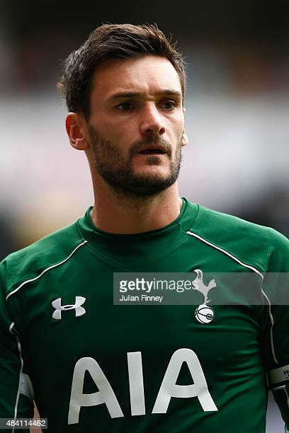 Hugo Lloris of Spurs looks on during the Barclays Premier League match between Tottenham Hotspur and Stoke City on August 15 2015 in London United...