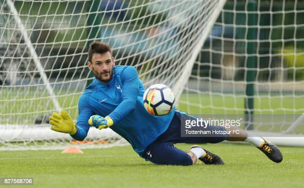 Hugo Lloris of Tottenham during the Tottenham Hotspur training session at Tottenham Hotspur Training Centre on August 8 2017 in Enfield England