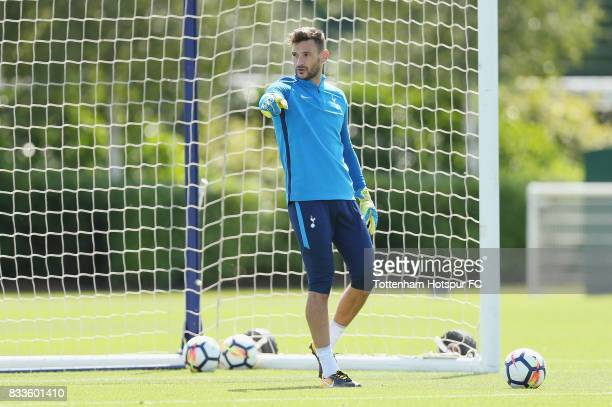 <Hugo Lloris> of Tottenham during the Tottenham Hotspur training session at Tottenham Hotspur Training Centre on August 17 2017 in Enfield England