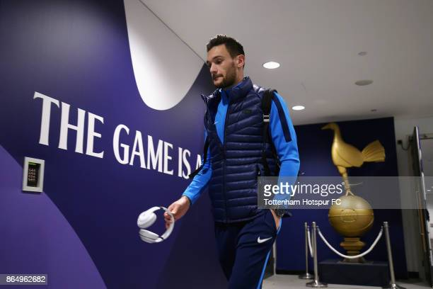 Hugo Lloris of Tottenham Hotspur arrives at the stadium prior to the Premier League match between Tottenham Hotspur and Liverpool at Wembley Stadium...