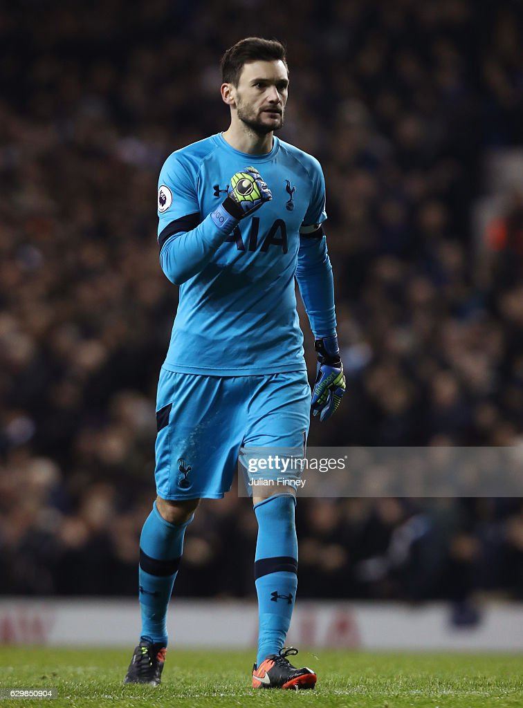 Hugo Lloris of Tottenham Hotspur celebrates his sides second goal during the Premier League match between Tottenham Hotspur and Hull City at White Hart Lane on December 14, 2016 in London, England.