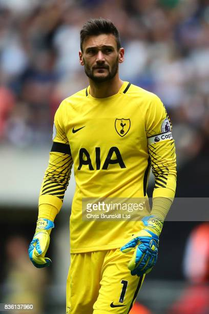 Hugo Lloris of Tottenham Hotspur looks on during the Premier League match between Tottenham Hotspur and Chelsea at Wembley Stadium on August 20 2017...