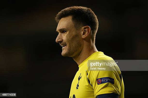 Hugo Lloris of Tottenham Hotspur looks on during the UEFA Europa League Group J match between Tottenham Hotspur FC and Qarabag FK at White Hart Lane...