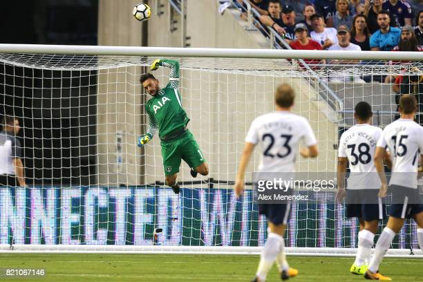 Hugo Lloris of Tottenham Hotspur makes a leaping save during the International Champions Cup 2017 match between Paris SaintGermain and Tottenham...