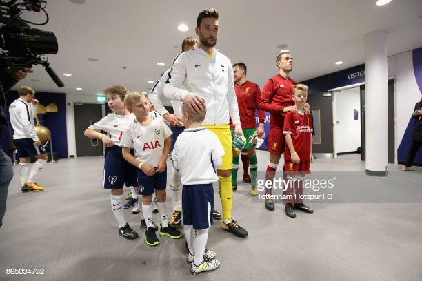 Hugo Lloris of Tottenham Hotspur waits in the tunnel to lead his team out prior to the Premier League match between Tottenham Hotspur and Liverpool...