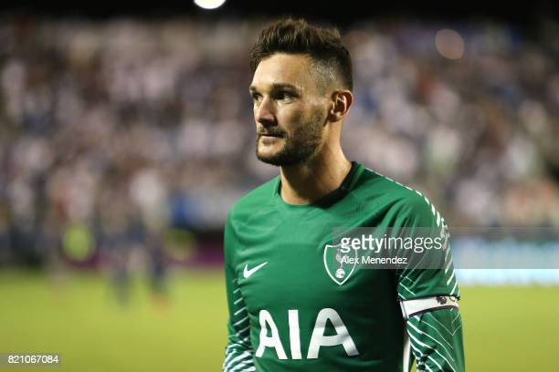 Hugo Lloris of Tottenham Hotspur walks off the pitch at halftime during the International Champions Cup 2017 match between Paris SaintGermain and...