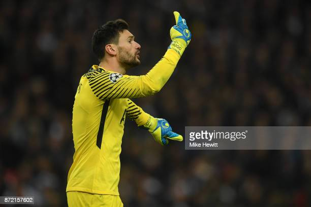 Hugo Lloris of Tottenham in action during the UEFA Champions League group H match between Tottenham Hotspur and Real Madrid at Wembley Stadium on...