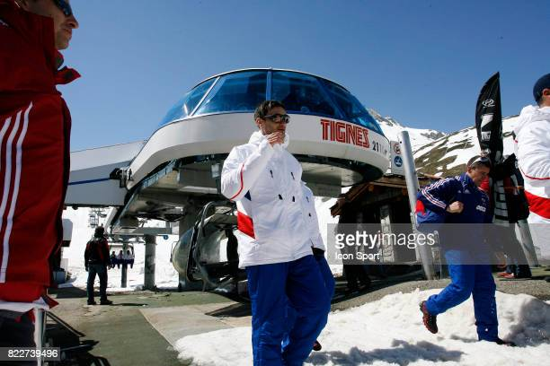 Hugo LLORIS Retour du Glacier Stage de l'Equipe de France avant la Coupe du Monde 2010 Tignes France