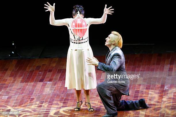 Hugo Mastrolorenzo and Agustina Vignau of Argentina dance during the Stage Tango Final as part of Buenos Aires Tango Festival World Championship 2016...