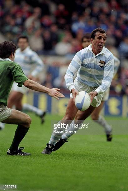 Hugo Porta of Argentina in action during a match against the Ireland at Lansdowne Road in Dublin Republic of Ireland Mandatory Credit Russell...