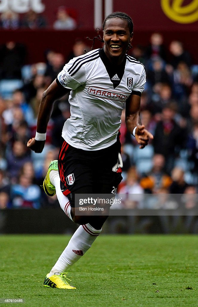 <a gi-track='captionPersonalityLinkClicked' href=/galleries/search?phrase=Hugo+Rodallega&family=editorial&specificpeople=597054 ng-click='$event.stopPropagation()'>Hugo Rodallega</a> of Fulham celebrates scoring the winning goal during the Barclays Premier League match between Aston Villa and Fulham at Villa Park on April 5, 2014 in Birmingham, England.