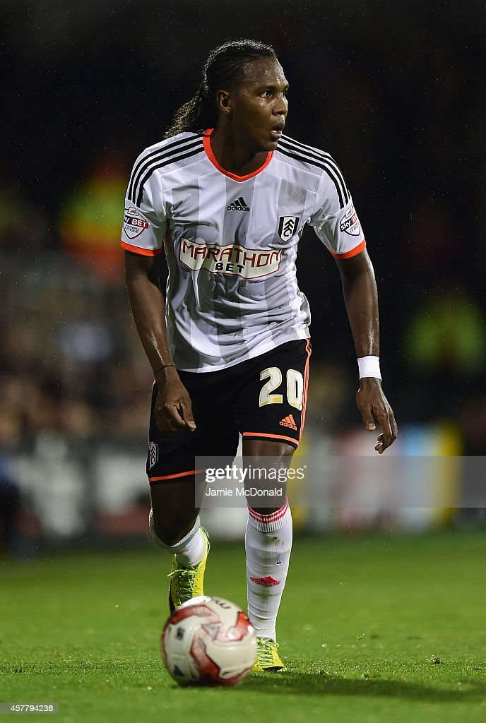 <a gi-track='captionPersonalityLinkClicked' href=/galleries/search?phrase=Hugo+Rodallega&family=editorial&specificpeople=597054 ng-click='$event.stopPropagation()'>Hugo Rodallega</a> of Fulham in action during the Sky Bet Championship match between Fulham and Charlton Athletic at Craven Cottage on October 24, 2014 in London, England.