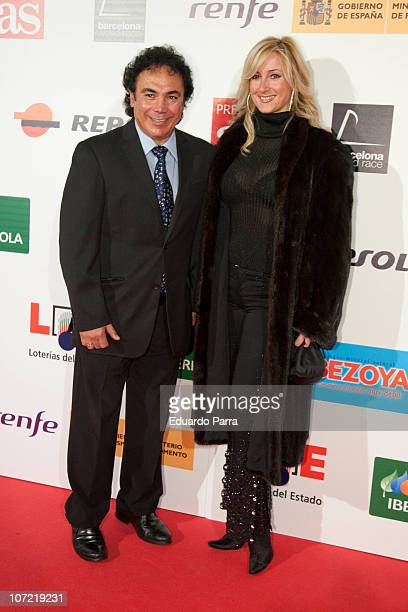 Hugo Sanchez and wife attend As del Deporte Awards at Ifema Cityhall on November 30 2010 in Madrid Spain