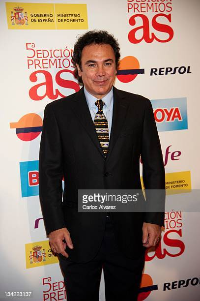 Hugo Sanchez attends the AS Awards 2011 at the Palace Hotel on November 28 2011 in Madrid Spain