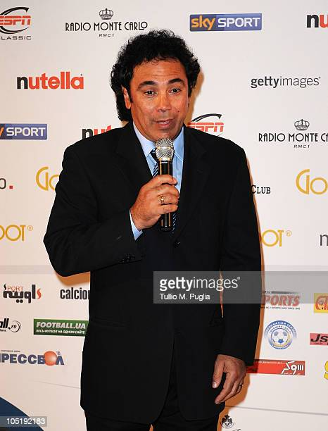 Hugo Sanchez attends the Golden Foot Awards ceremony at Fairmont Hotel on October 11 2010 in Monaco Monaco