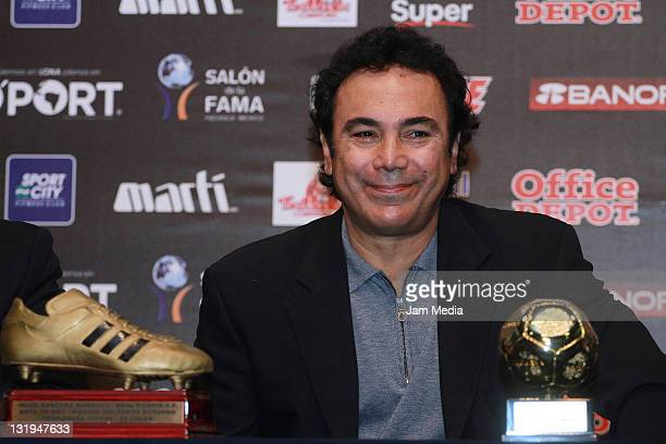 Hugo Sanchez during the conference before the Investiture Ceremony for the 2011 Hall of Fame National and International Soccer at Hall of Fame...