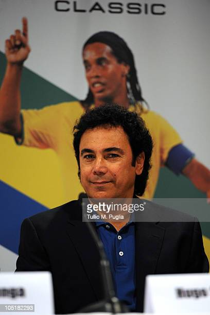 Hugo Sanchez looks on during a press conference before the Golden Foot Awards ceremony at Fairmont Hotel on October 11 2010 in Monaco Monaco