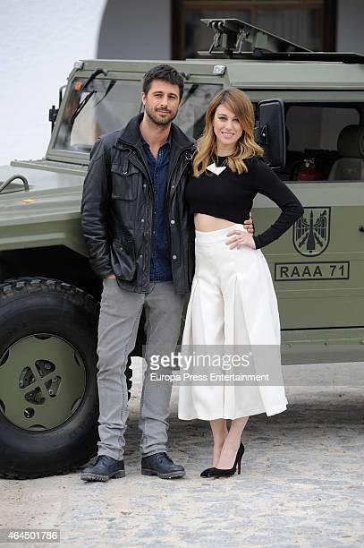 Hugo Silva and Blanca Suarez attend a photocall to present 'Los Nuestros' TV series at Cuartel General del Mando de Artilleria Antiaerea on February...