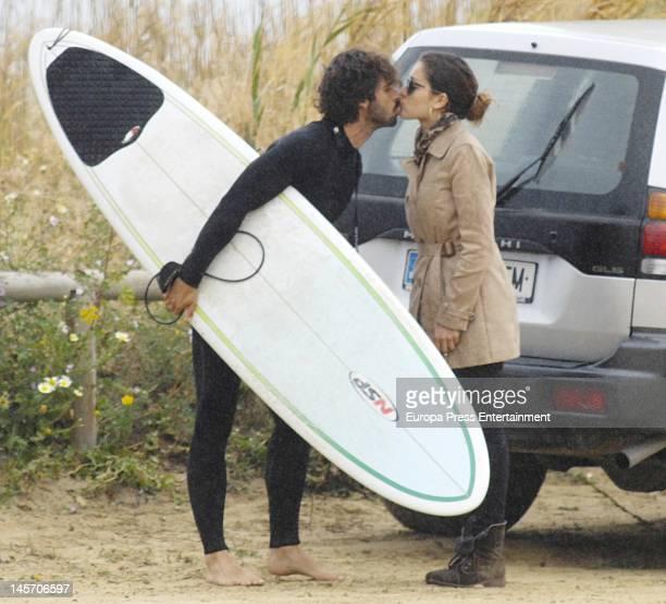 Hugo Silva and Hiba Abouk are seen on April 27 2012 in Cadiz Spain