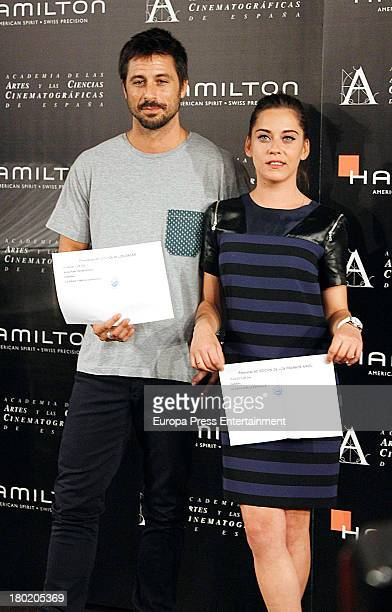 Hugo Silva and Maria Leon attend Spanish films candidates to the Oscars press conference at Cinema Academy on September 9 2013 in Madrid Spain
