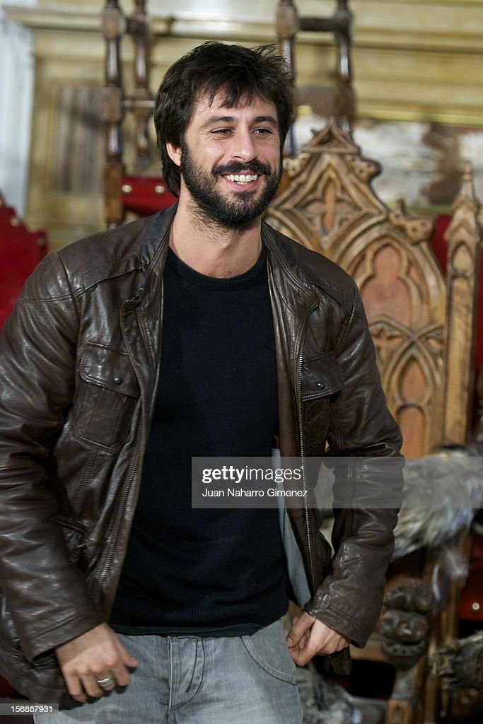 Hugo Silva attends 'Las Brujas de Zugarramurdi' on set filming at Palacio del Infante Don Luis on November 23, 2012 in Madrid, Spain.