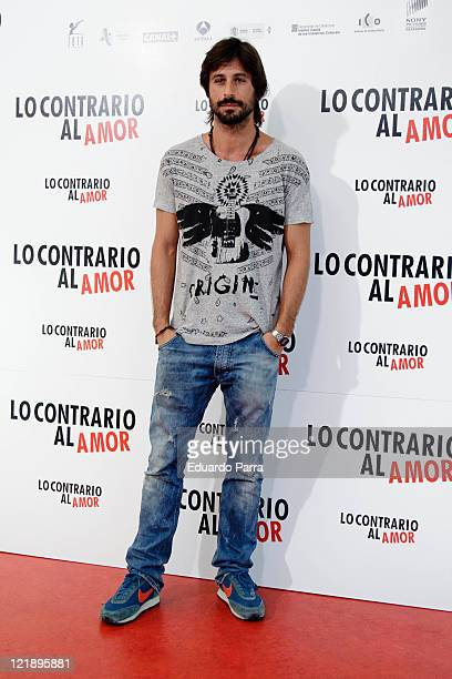 Hugo Silva attends Lo contrario del amor photocall at Sony office on August 23 2011 in Madrid Spain