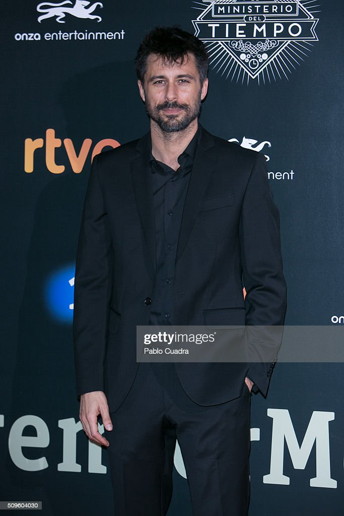 <a gi-track='captionPersonalityLinkClicked' href=/galleries/search?phrase=Hugo+Silva&family=editorial&specificpeople=605764 ng-click='$event.stopPropagation()'>Hugo Silva</a> attends the 'El Ministerio del Tiempo' season 2 premiere at Capitol Cinema on February 11, 2016 in Madrid, Spain.