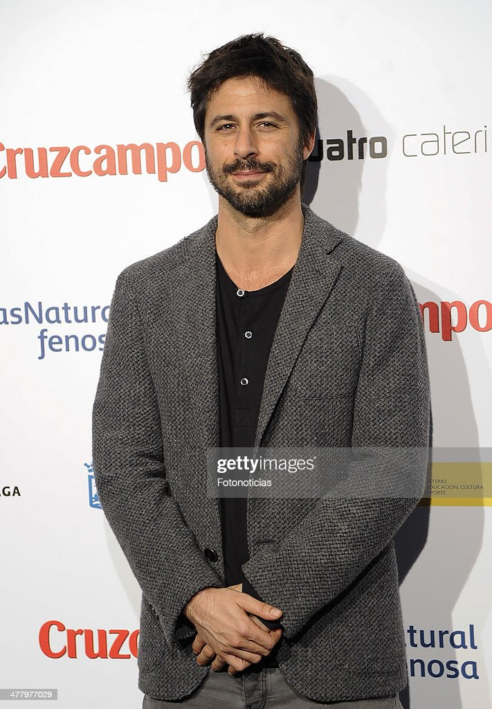 <a gi-track='captionPersonalityLinkClicked' href=/galleries/search?phrase=Hugo+Silva&family=editorial&specificpeople=605764 ng-click='$event.stopPropagation()'>Hugo Silva</a> attends the Malaga Film Festival cocktail presentation at TClub on March 11, 2014 in Madrid, Spain.