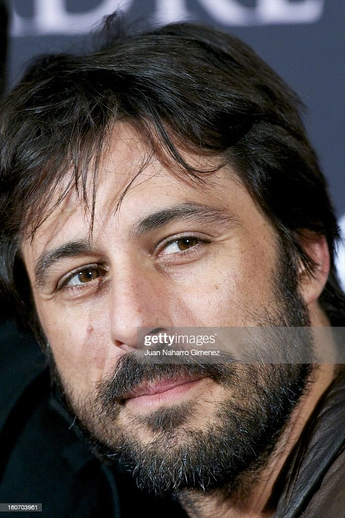 Hugo Silva attends the 'Mama' premiere at the Callao cinema on February 4, 2013 in Madrid, Spain.