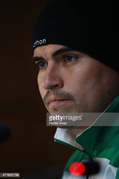 Hugo Suarez of Bolivia during a press conference at Nacional Stadium on June 18 2015 in Santiago Chile Bolivia will face Chile as part of 2015 Copa...