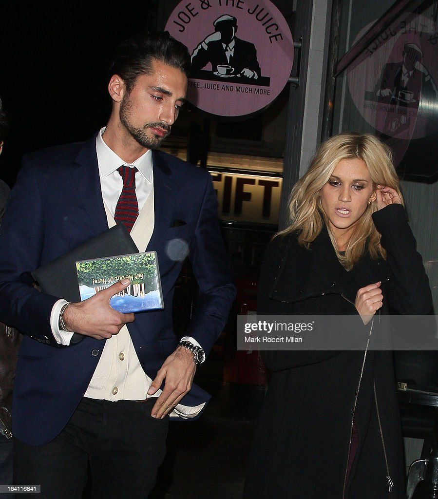 Hugo Taylor and Ashley Roberts at the Groucho club on March 19, 2013 in London, England.