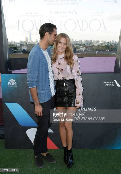 Hugo Taylor and Millie Mackintosh attend a screening of Little Miss Sunshine with American Airlines at The Bussey Building on August 10 2017 in...