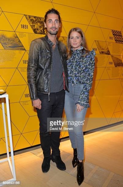 Hugo Taylor and Millie Mackintosh attend the reveal of the new electrified Range Rover at the London Design Museum on October 10 2017 in London...