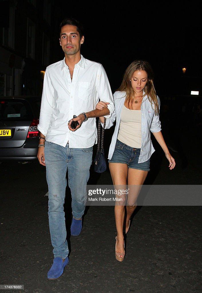 Hugo Taylor and Natalie Joel at E&O restaurant on July 24, 2013 in London, England.