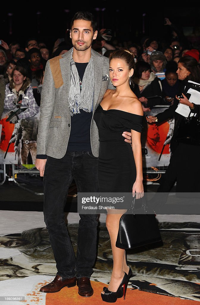 <a gi-track='captionPersonalityLinkClicked' href=/galleries/search?phrase=Hugo+Taylor&family=editorial&specificpeople=5593226 ng-click='$event.stopPropagation()'>Hugo Taylor</a> and Natalie Joel attend the UK Premiere of 'Django Unchained' at Empire Leicester Square on January 10, 2013 in London, England.