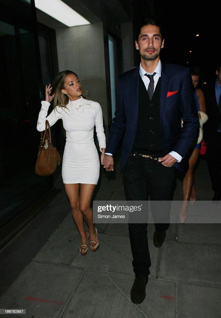 Hugo Taylor and Natalie Joel sighting on April 16, 2013 in London, England.