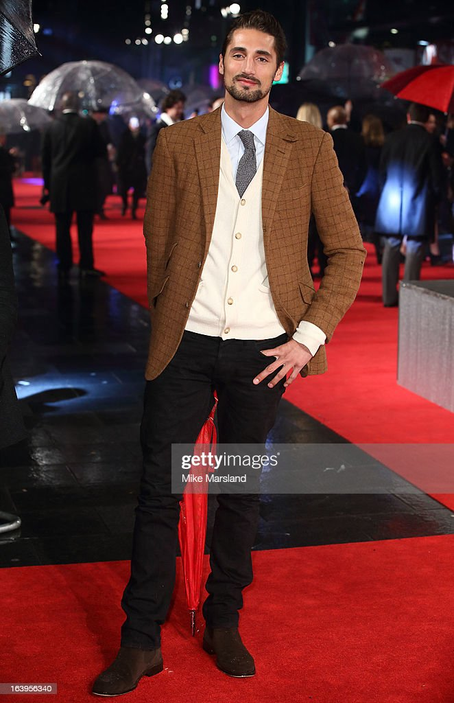 Hugo Taylor attends the UK premiere of 'G.I. Joe: Retaliation' at Empire Leicester Square on March 18, 2013 in London, England.