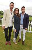 Hugo Taylor Saskia Boxford and Spencer Matthews attend The Cartier Queen's Cup final at Guards Polo Club on June 14 2015 in Egham England