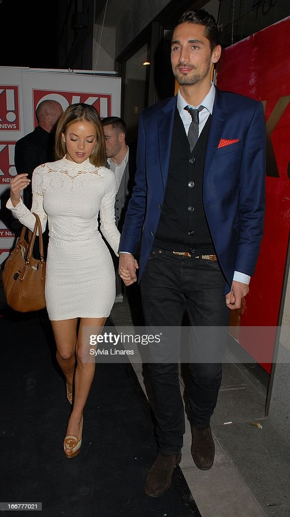 Hugo Taylor (R) sightings at the OK! Magazine 20th Anniversary Party held at Clarendon Fine Art on April 16, 2013 in London, England.