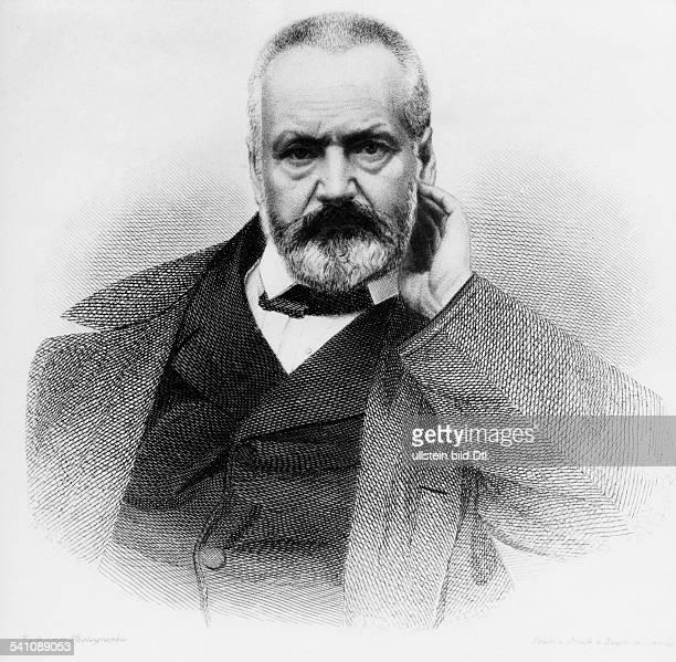 Hugo Victor *2602180222051885Schriftsteller Frankreich Portrait nach einer Lithographie undatiert