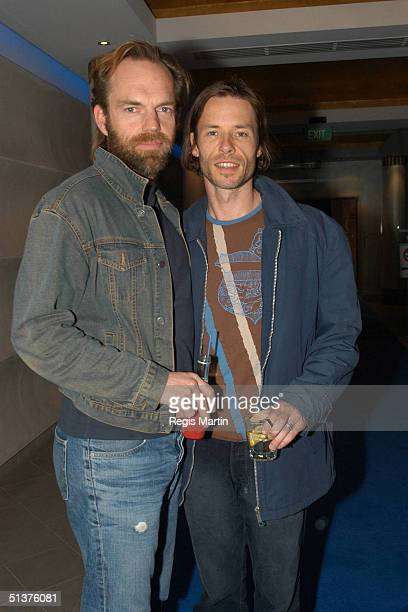 Hugo Weaving and Guy Pearce at the Melbourne Launch of the DVD of The Adventures Of Priscilla Queen Of The Desert at the Cinema Europa Melbourne...