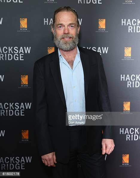 Hugo Weaving arrives ahead of the Australian premiere of Hacksaw Ridge at State Theatre on October 16 2016 in Sydney Australia