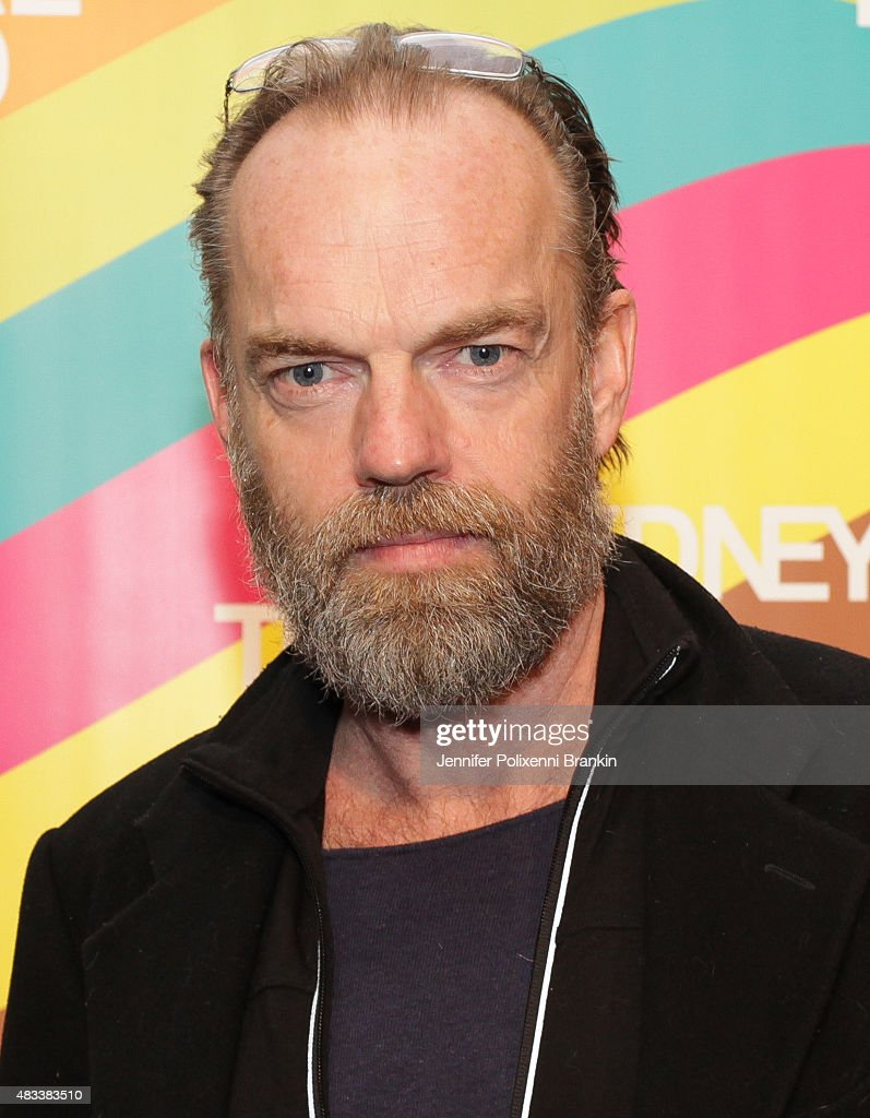 Hugo Weaving arrives at the opening night of 'The Present' at Sydney Theatre Company on August 8, 2015 in Sydney, Australia.