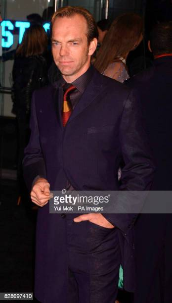 Hugo Weaving arriving for the UK premiere of The Matrix Reloaded at the Odeon cinema in London's Leicester Square