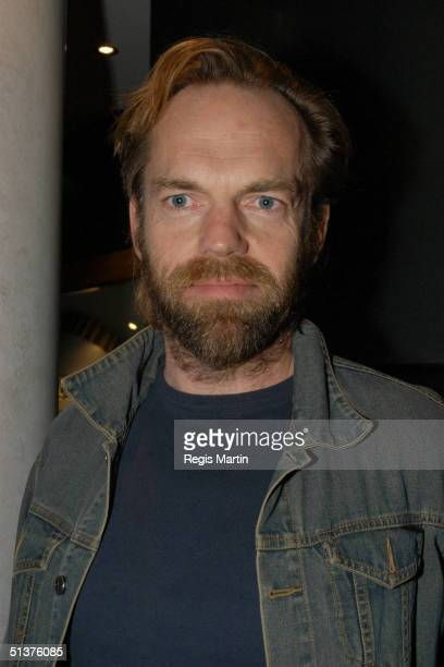 Hugo Weaving at the Melbourne Launch of the DVD of The Adventures Of Priscilla Queen Of The Desert at the Cinema Europa Melbourne Victoria Australia